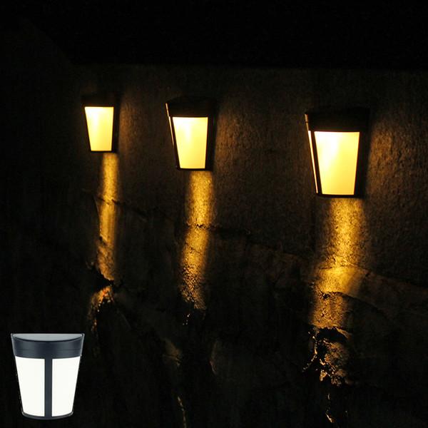 Outdoor Solar Wandleuchte 6LED Wandhalterung Gartenlampe Dekorative LED Zaun Beleuchtung für Tor Fechten Patio