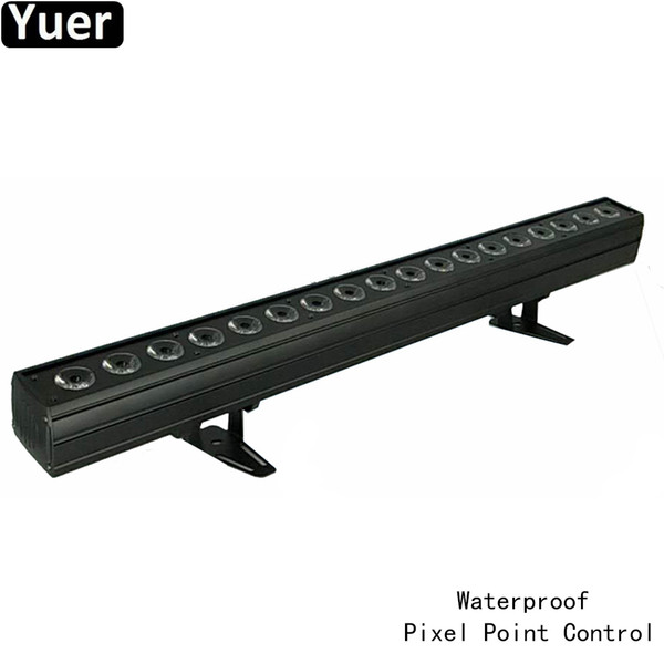 IP65 18X18W RGBWA-UV LED 6IN1 Wall Washer Light Bar Pixel Point DMX512 Sound Party Colore Luci musicali DJ Disco Wall Wash Light