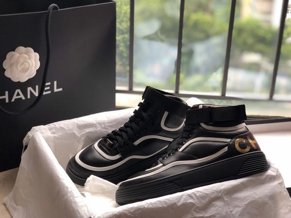 Di lusso high-top scarpe di cuoio scarpe sportive di cuoio di marca scarpe casual signore selvaggio comodo da basket all'aperto in esecuzione