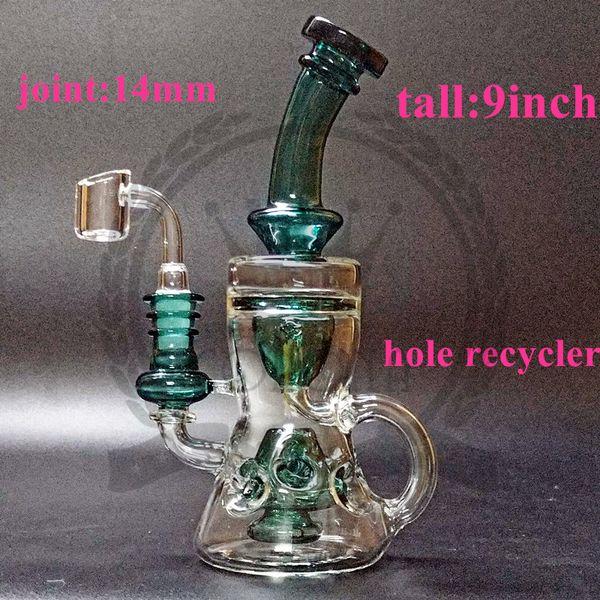 Glass bong oil rig glass water pipe percolator Color pineapple-shaped hand made hight borolisicate bubbler bongs