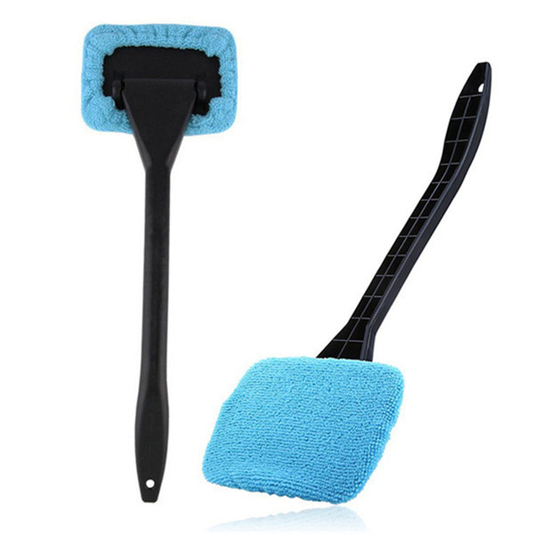 top popular 2019 New 1pc Microfiber Auto Window Cleaner Long Handle Car Washable Car Brush Window Windshield Wiper Cleaner Car Cleaning Tool 2021