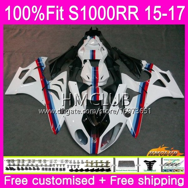 Injection mold For BMW S 1000RR S1000 RR S1000RR 15 16 17 OEM Bodys 29HM.9 S-1000RR S 1000 RR 2015 2016 2017 100% Fit Fairing Stock white