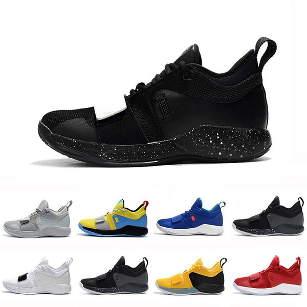 With Box PG 2.5 University Red Opti Yellow Men Basketball Shoes Racer blue White Black Wolf Grey Mens Paul George sports sneakers