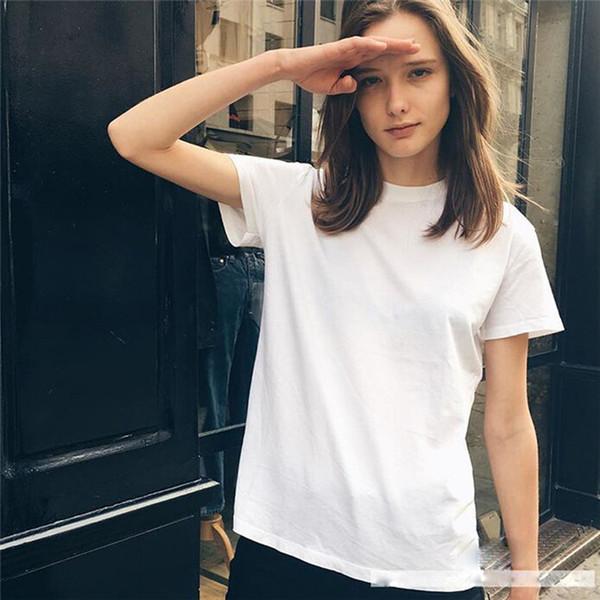 Envío gratuito camisa de mujer cuello redondo manga corta camiseta nueva mujer Slim Fit camiseta verano Tops 7 colores YKD2