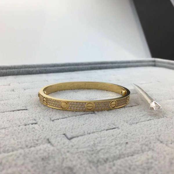 A9 women size gold 3 rows stone