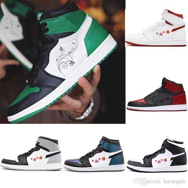 31fa13501e5868 Purple Mens Designer Sneakers Pin Green Court Basketball Shoes Og 1 Wheat  Gold Bred Toe Chicago