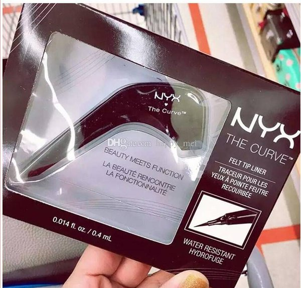 Factory Direct DHL Free Shipping NYX THE CURVE Liquid Eyeliner Beauty Meets Function High Quality Waterproof Cosmetics Party Queen