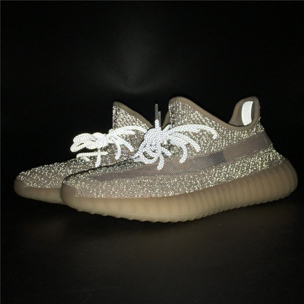 2019 New Release Authentic y350 V2 Synth Static Reflective Antlia Lundmark Black Running Shoes 3M Kanye West Bred Man Woman Designer Sneaker