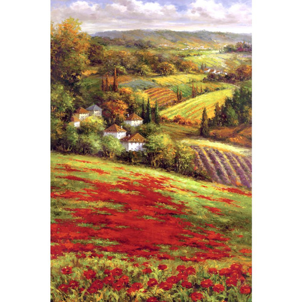 Hand painted beautiful oil paintings Valley View III landscapes artwork for living room