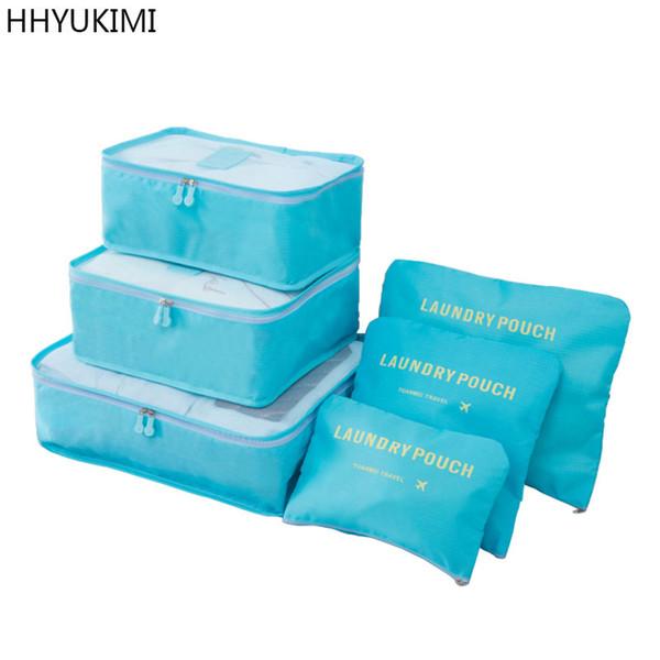 wholesale 6 Pcs/Set Portable Travel Clothing Finishing Luggage Tidy Storage Bag Pouch Suitcase Underwear Organizer Laundry