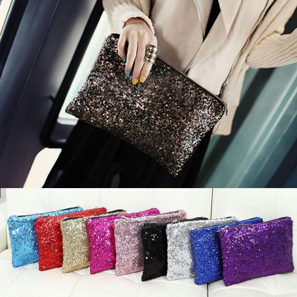 Retro Luxury Sequins Hand Bag Taking Late Package Clutch Bag Sparkling Dazzling Sequins Clutch Bags Purse Handbag Evenin PO66