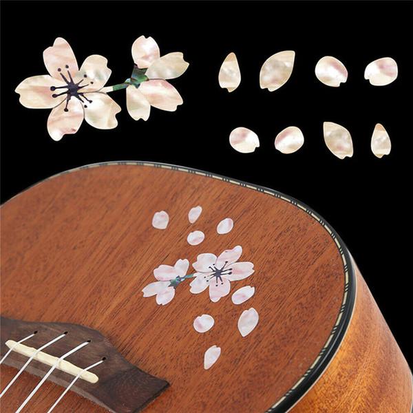 New embutimento adesivos flores de cereja à cabeça de guitarra e escolher guardas decoração com flores butty adesivo parede