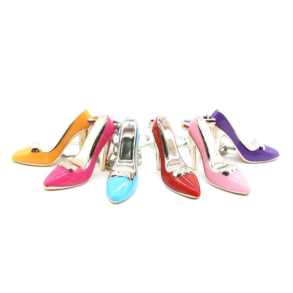 best selling IN STOCK! 6 Different High Heels Keychains Women Bag Charms Keychain Purse Pendant Cars Holder Mini Shoe Key Ring Buckle Hanging