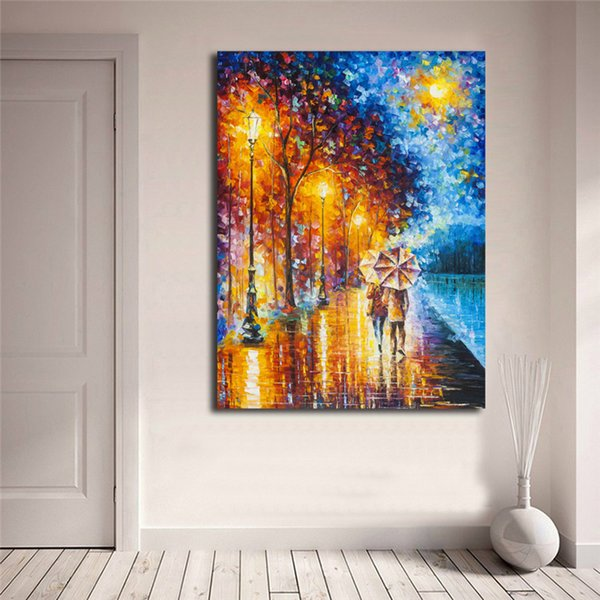 Love By The Lake Wall Art Canvas Posters Prints Landscape Oil Painting Wall Pictures For Living Bedroom Kitchen Home Decoration