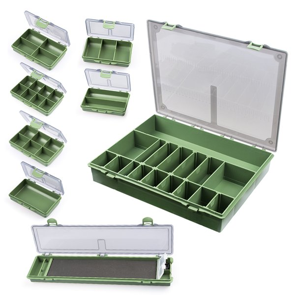 1 set fishing tackle box 4 compartments / 6 compartments / 8 tackle storage box for carp fishing accessories thumbnail
