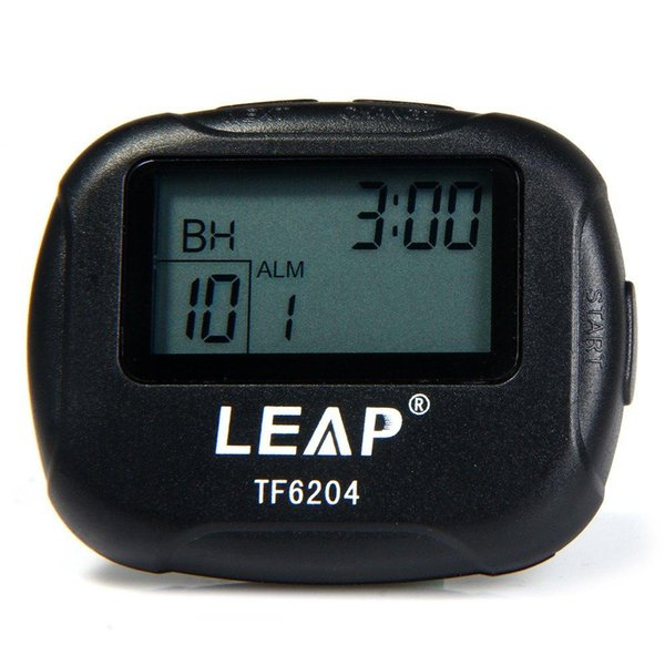 Wholesale- LEAP TF6204 Interval Timer for Sports Fitness Boxing with LCD Environmentally Friendly and Durable High Quality Pedometers Timer