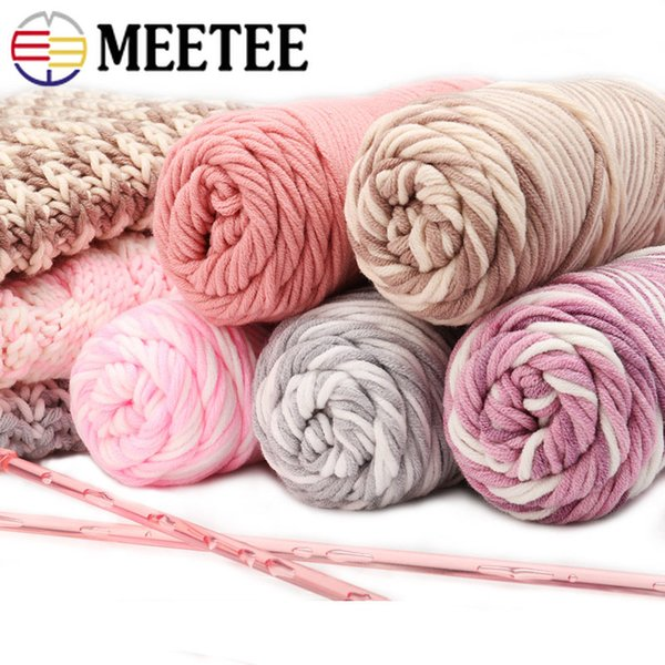 Meetee Milk Cotton Lover Thick Cotton Yarn Baby Scarves for Knitting Blanket Crochet Yarn Needles Hand-woven AP472