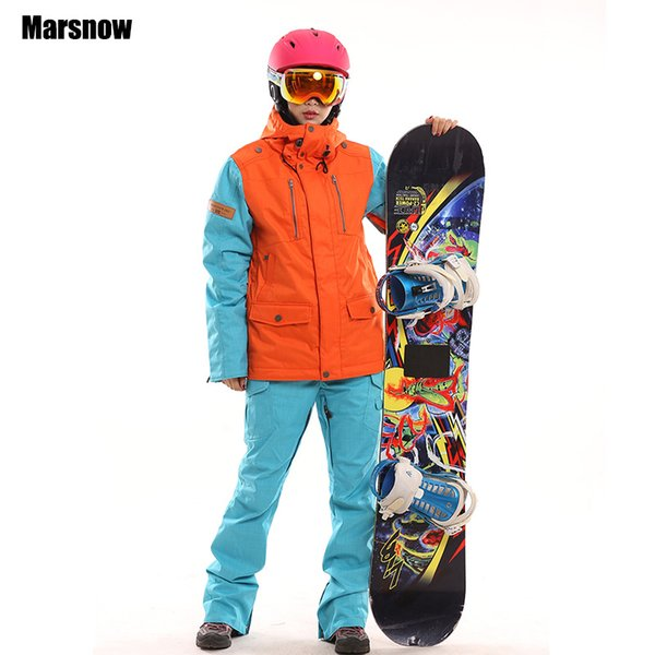 Dropshipping new Russian -20 to -30 ski jackets and pant waterproof windproof outdoor wear ski sets winter snow suit for women