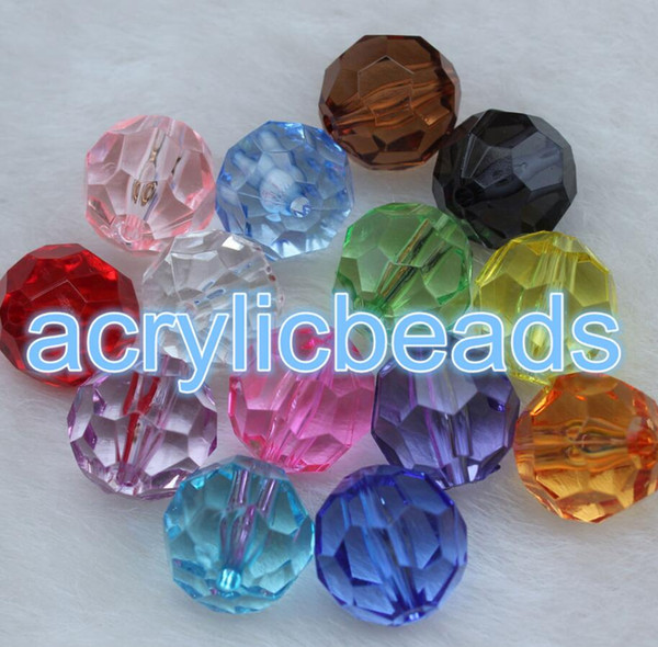 New Item Cheap Top Quality 8mm Clear Acrylic Crystal Faceted Round Loose Plastic Ball Spacer Beads Jewelry Making DIY 500pcs