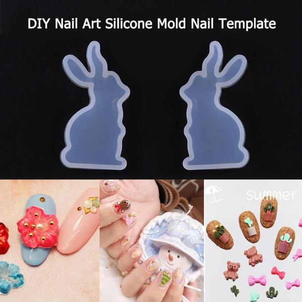 Moule en silicone animal 3D pour bricolage Nail Art breloques bijoux pendentif faisant beauté décorations modèles forme