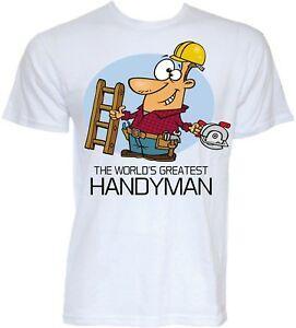 Handyman T-shirt Dos Homens Engraçado Legal Novidade Joke Zelador Pai Presentes DIY Idéias