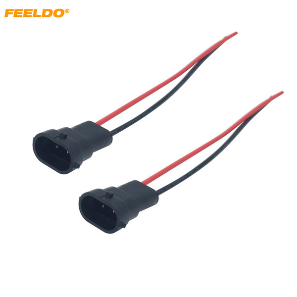 2019 LEEWA Car Auto H11 Wiring Harness Socket Wire Connector Plug For on