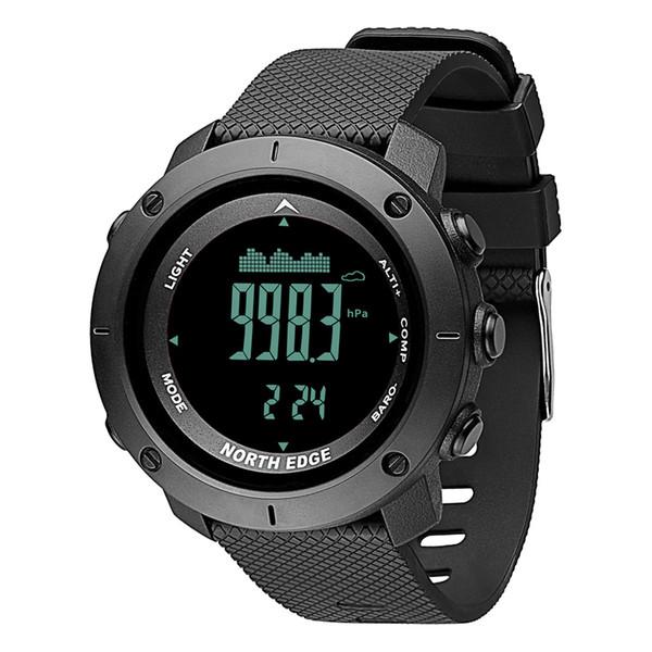 NORTH EDGE Men's sport Digital watch Hours Running Swimming Army watches Altimeter Barometer Compass waterproof 50m