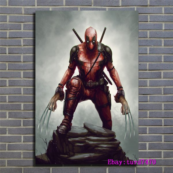 2019 Deadpool Wolverine Canvas Prints Wall Art Oil Painting Home Decor Unframed Framed 24x36 From Chai2018 5 98 Dhgate Com