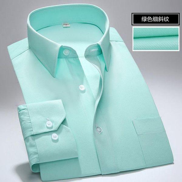 Long Sleeve Shirt Men Autumn New Fashion Designer High Quality Solid Shirt Non Iron Slim Fit Business Shirts Formal 4XL 5XL 6XL