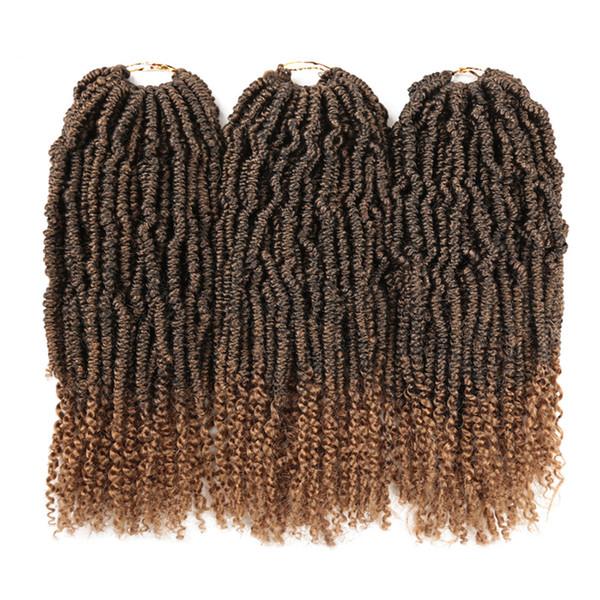 Bomb Twist Crochet Trenzas Ombre Sintético Nubian Spring Kinky Curly Twist Kanekalon Afro Twist para Mujeres Negras