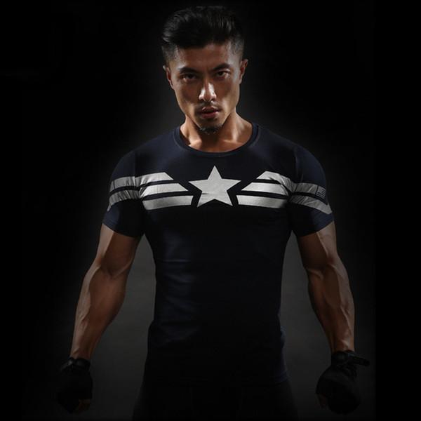 Avengers Herren Sommer Quick Dry Print T-Shirts Mode Rundhalsausschnitt Fitness Kurzarm Bekleidung Freizeitbekleidung