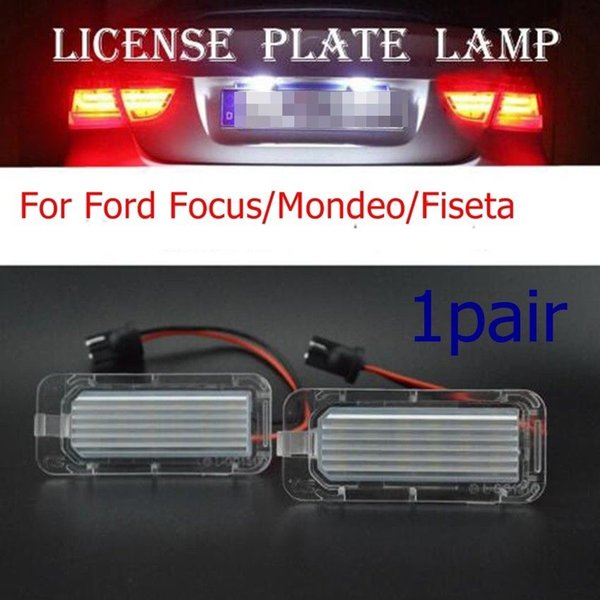 For Ford Focus/Mondeo/Fiseta Replace 24LED Rear Number White color Licence Plate Light free shipping