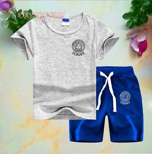 niño Juegos infantiles Camiseta para niños y pantalón Conjuntos de algodón para niños Bebés bebés Niños Traje de verano Bebé Deporte Traje 2pcs / set 2-8T