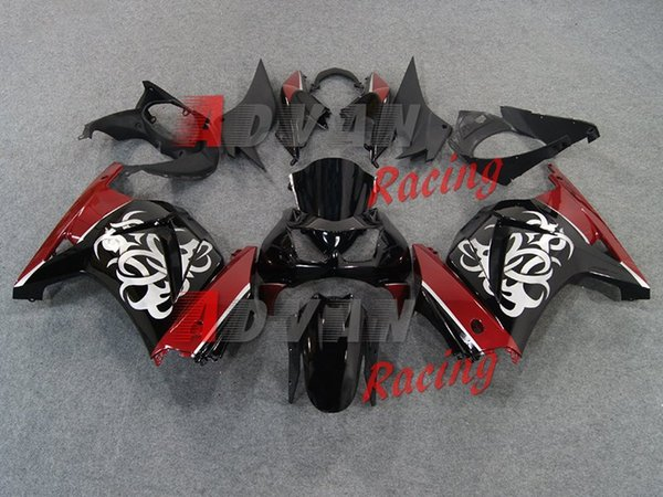 Neue Spritzgussform ABS-Verkleidungskit für Kawasaki ninja250 2008-2015 EX250 ZX250R 2008 09 10 11 12 13 14 2015 Verkleidungen kühlen rot schwarz ab