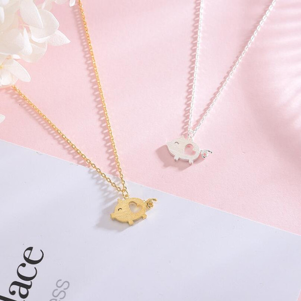 Fashion Heart Pig Necklace for Women Cute S925 Designer Necklace Accessories New Luxury Jewelry Free Shipping