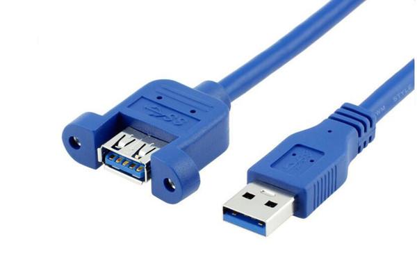 USB 3.0 mâle à femelle extension adaptateur de connecteur de verrouillage de vis de montage sur panneau de câble (avec vis) 1 m livraison gratuite calcul accessoires vente chaude