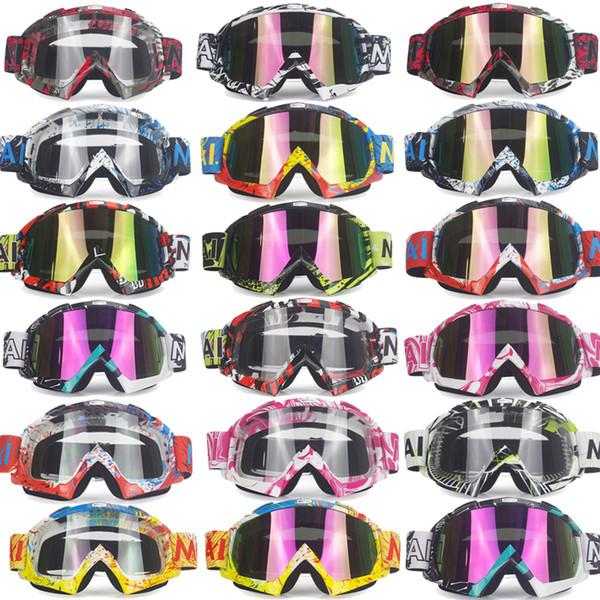 Brand Goggles Dirt Bike ATV Cross Riding Ski Fox Motocross Glasses Motor for Motorcycle UV Ski Snowboard Goggles Clear Lens