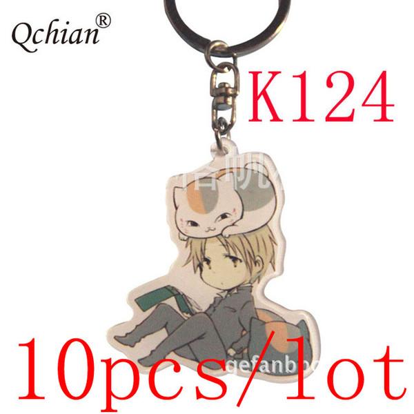 10pcs/lot Cat Teacher Natsume Yuujinchou Acrylic Decorative Pendant Keychain Car Motorcycle Key Jewelry Backpack Pendant