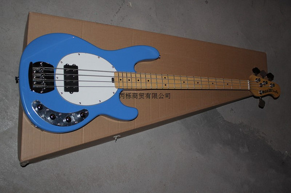 Free shipping Standard Music 4 strings bass music man stingRay electric bass guitar with 9 V Battery active pickups