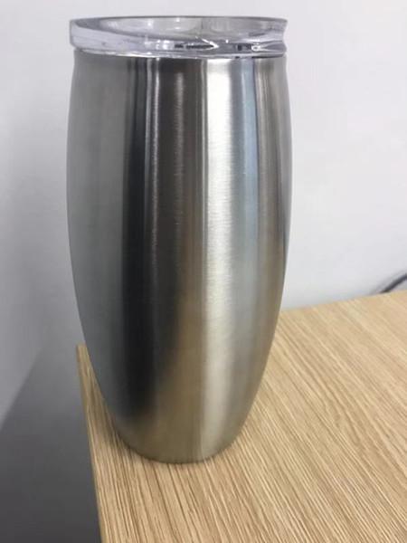 Neu !!! 25 Unzen Weingläser Edelstahl Tumbler Ei Form Wein Tumbler Kaffeebecher große Wasserflasche