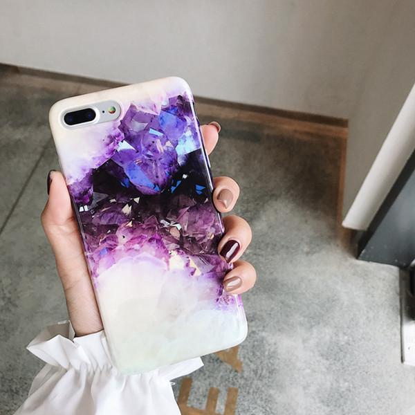 Cas de téléphone de luxe en cristal de rêve pour iphone X XR XS Max cas pour iphone 87 plus la couverture de mode doux cas brillant