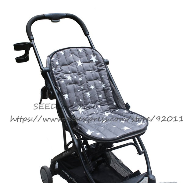 Assento de bebê Stroller Assento Dupla Face de Algodão Assento Liner Respirável Macio Almofada Do Carro Suporte de Cabeça Colchão Pad Pram Acessório