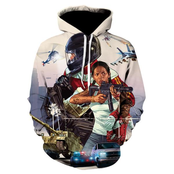 Acheter Grand Theft Auto GTA GTA5 Sweat Shirts Capuche Veste Polaire Automne Hiver Jeu Télévisé Zipper Vêtements Hommes GTA 5 De $25.88 Du Priscille  