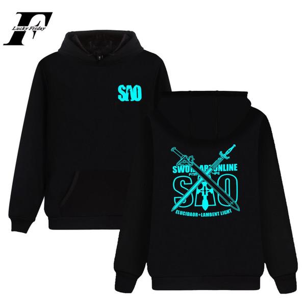 men women anime Sword Art Online SAO fashion sport Hoodies Pullover casual Pocket Long Sleeve Harajuku Hooded Sweatshirts Tops