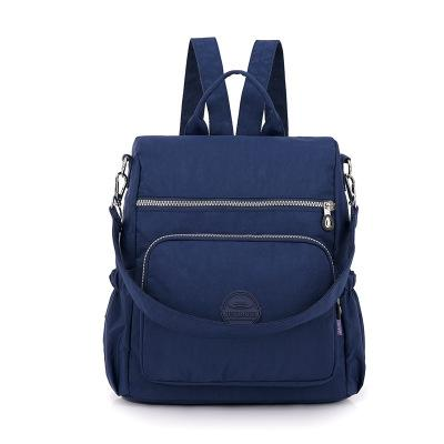 The new Oxford cloth backpack women washed nylon bag light cross-border multifunctional package