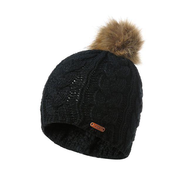 2018 Winter New Fashion Warm Beanies Women Elasticity Warm Crochet Winter Wool Knit Ski Beanies Hair Ball Wool Knit Hat Hot Sale