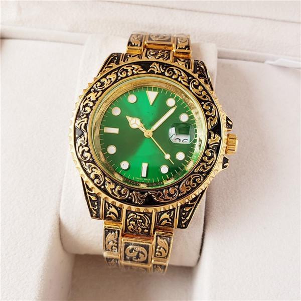 20 colori mens relogio masculino orologi 40mm rosa oro calendario bracklet pieghevole chiusura orologio regalo maestro spedizione gratuita