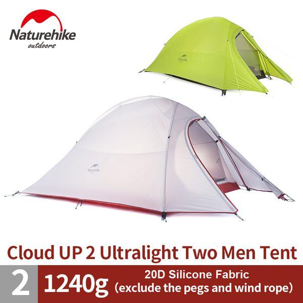 NatureHike 2 Kişi Ultralight Çadır 20D Silikon Çadır Çift katmanlı Kamp Çadır NH15T002-T