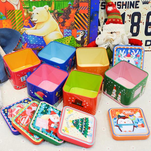De Noël Mini Boîte Carrée Conteneur De Bonbons En Métal Contenants De Bonbons Portable Enfants Cadeaux Boîtes Pour Les Fournitures De Fête 2 3im E1