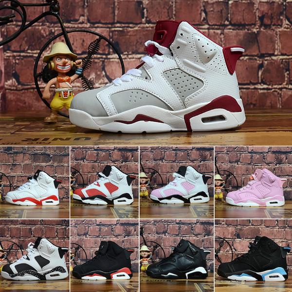 Nike Air Jordan 6 2019 Zapatillas deportivas para niños baratas 6 Zapatillas de baloncesto para niños Zapatillas deportivas deportivas J6 para niños y niñas Regalo de cumpleaños